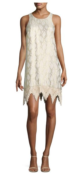 LILLY PULITZER marquette silk shift dress - Beautiful silk dress in luxe jacquard and fringed hem....