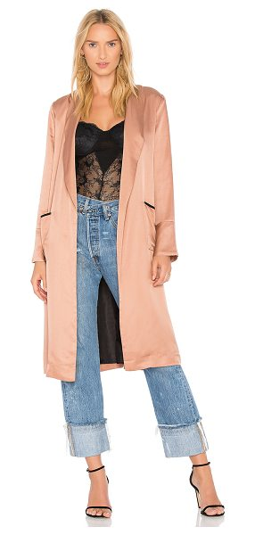 Line & Dot Aida Coat in blush - Self: 45% viscose 36% modal 19% tencelLining: 100% poly....