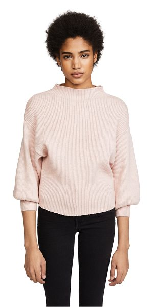 Line & Dot alder sweater in ballet pink - A mock-neck Line & Dot sweater in a slouchy profile....
