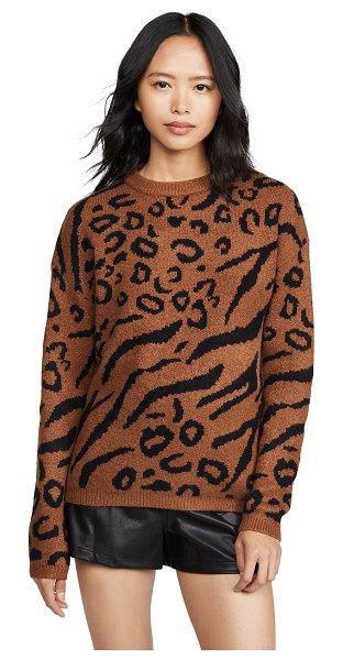 Line & Dot alee sweater in camel/black