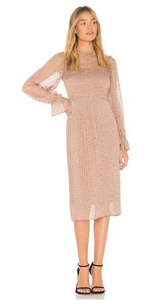 Line & Dot Allegra Dress in tan - Self & Lining: Poly blend. Hand wash cold. Fully lined....
