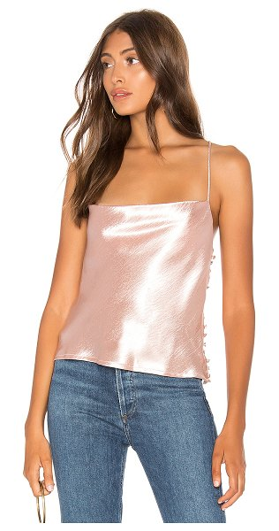 Line & Dot lena cowl neck cami in pink