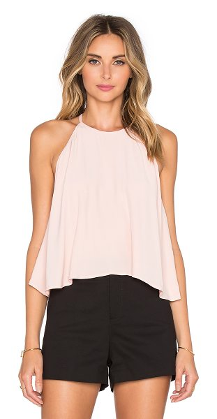 Line & Dot Lucienne Halter Top in blush - Poly blend. Hand wash cold. LEAX-WS76. LT1686A. Line &...