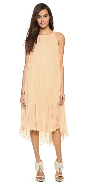 Line & Dot Pleated midi dress in blush - Exclusive to Shopbop. Accordion pleats lend volume to...