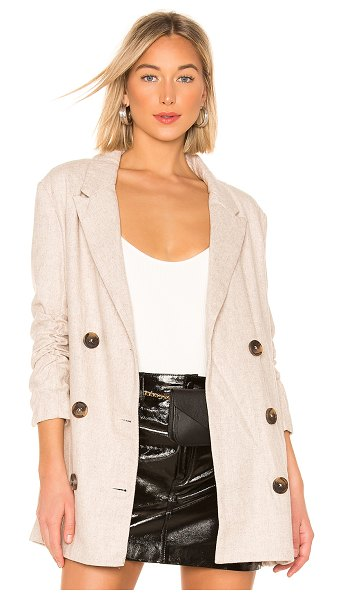 Line & Dot x revolve bon jacket in beige