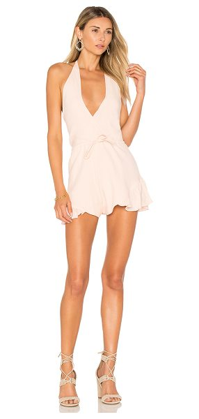 "LIONESS All Summer Long Romper - ""65% cotton 35% hemp. Dry clean only. Halter strap ties..."