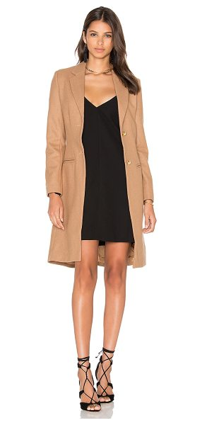 Lioness Donatella Short Winter Coat in camel - Self: 65% poly 35% woolLining: 100% poly. Dry clean...