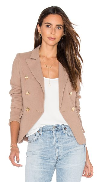LIONESS Palermo Blazer - 100% poly. Front double breasted button closure. Side...