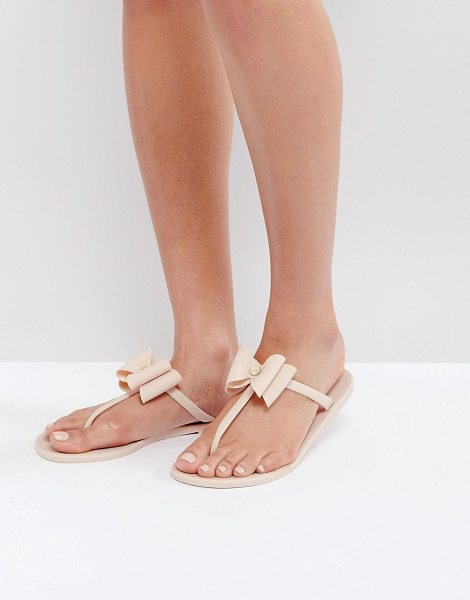 Lipsy Jelly Sandals With Bow Detail in pink - Sandals by Lipsy, Jelly style upper, Slip-on style, Toe...