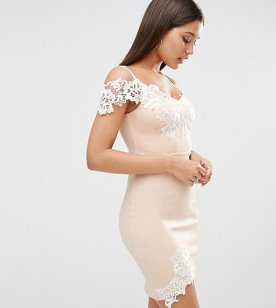 LIPSY Michelle Keegan Loves  Lace Detail Cami Mini Dress - Dress by Lipsy, Stretch fabric, Contrast lace overlays,...