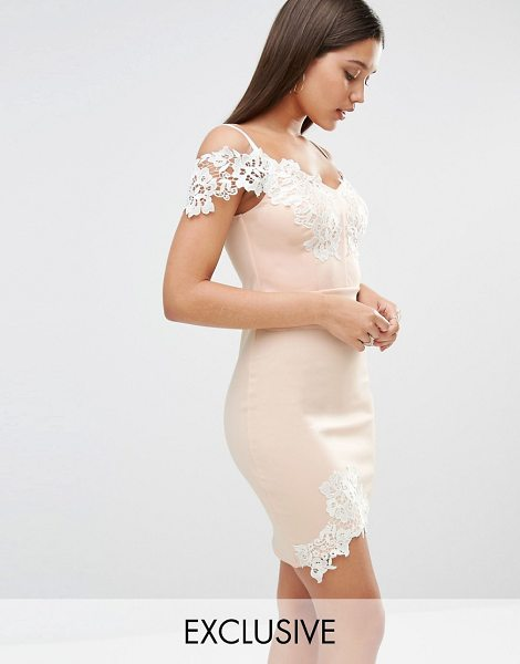 Lipsy Michelle Keegan Loves  Lace Detail Cami Mini Dress in pink - Dress by Lipsy, Stretch fabric, Contrast lace overlays,...