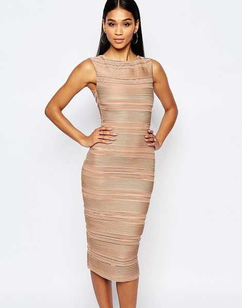 LIPSY Michelle Keegan Loves  Ripple Body-Conscious Dress - Body-Conscious dress by Lipsy, Textured fabric, Round...