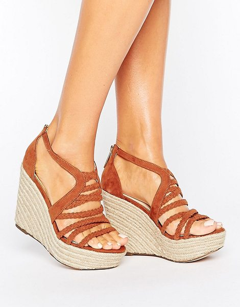 Lipsy Strappy Braid Wedge Sandal in tan