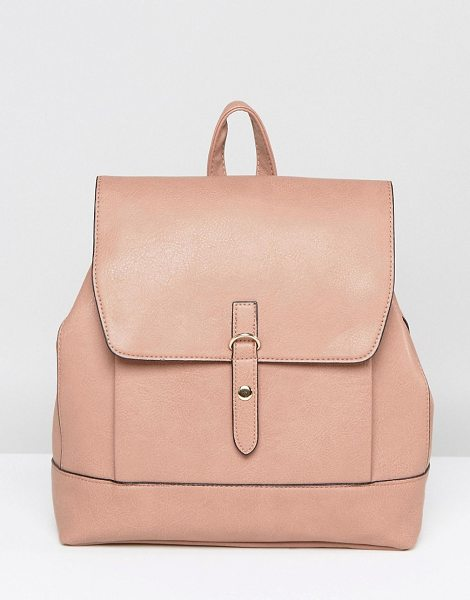 "Liquorish Backpack in beige - """"Cart by Liquorish, Faux-leather outer, Fully lined,..."
