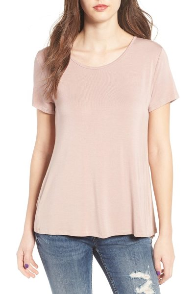 Lira Clothing fate ruffle back top in mauve - A classic, supersoft tee gets a flirtatious update with...