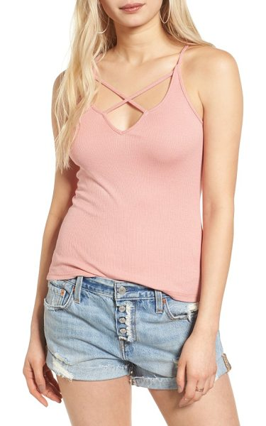 LIRA CLOTHING kinley strappy tank - The classic cami gets an edgy update with cage-like...
