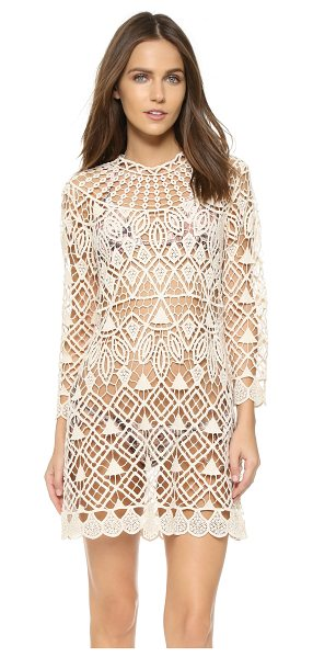 Lisa Maree Safe waters cover up in cream - A Lisa Maree swim cover up in open crochet. Long...