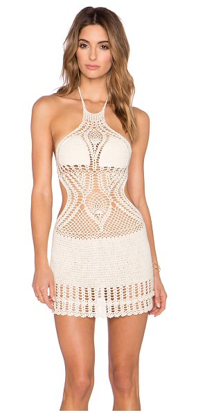 Lisa Maree The follow through cover up in cream - Self: 68% cotton 32% nylonLining: 95% poly 5% nylon....