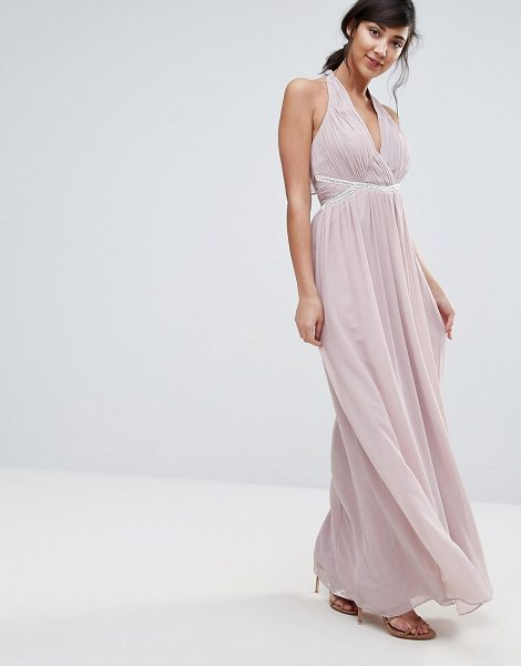 "Little Mistress maxi dress in pink - """"Maxi dress by Little Mistress, Lined chiffon,..."