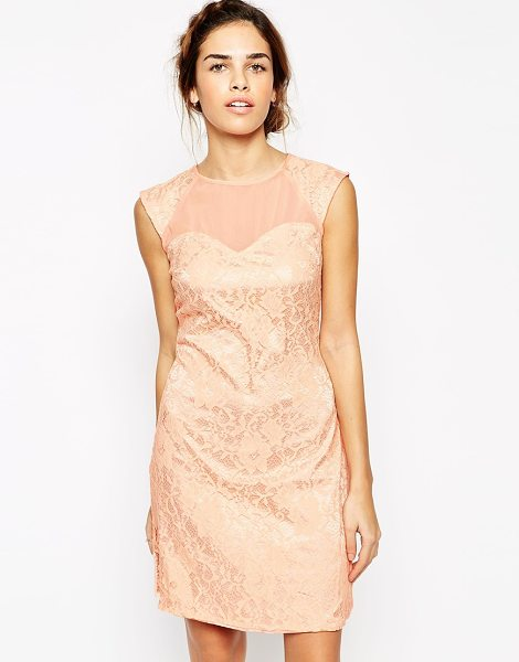 Little Mistress Lace Embellished Shift Dress in pink - Lace dress by Little Mistress, Lace and chiffon,...