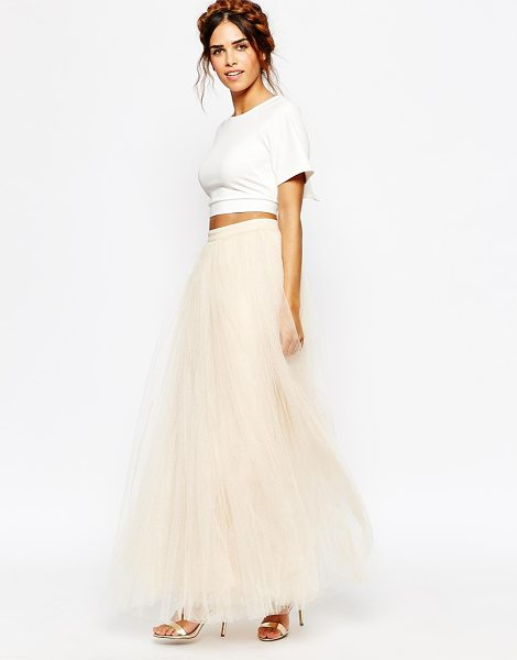 Little Mistress Maxi Tulle Skirt in cream