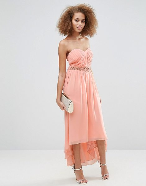 "LITTLE MISTRESS Pleated Bandeau Maxi Dress - """"Maxi dress by Little Mistress, Lined chiffon,..."