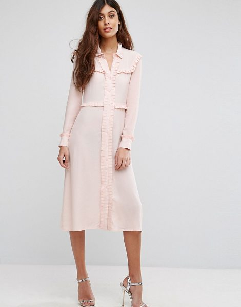 "Little White Lies Henriette Shirt Dress in pink - """"Dress by Little White Lies, Woven fabric, Spread..."