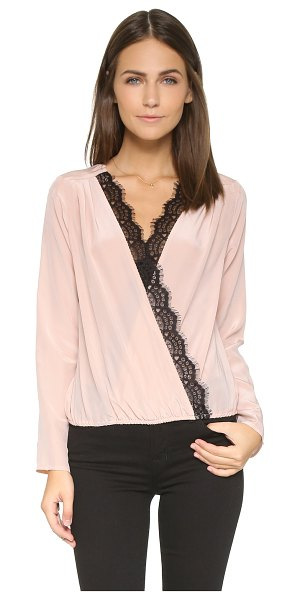 LIV Katie crossover top - Draped panels form a deep V neckline on this silk LIV...