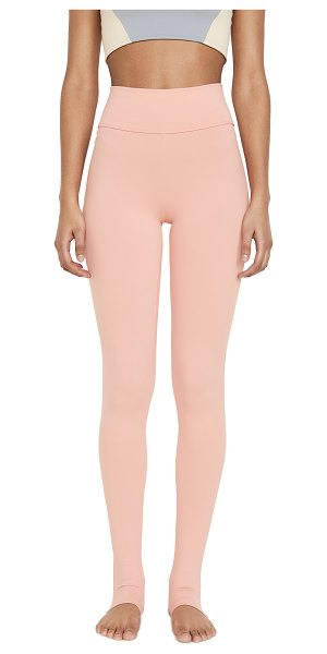Live the PROCESS ballet stirrup leggings in blooming dahlia