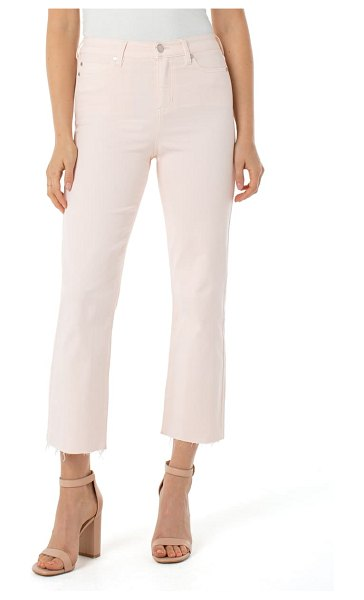 Liverpool stevie high waist raw hem stovepipe jeans in pink
