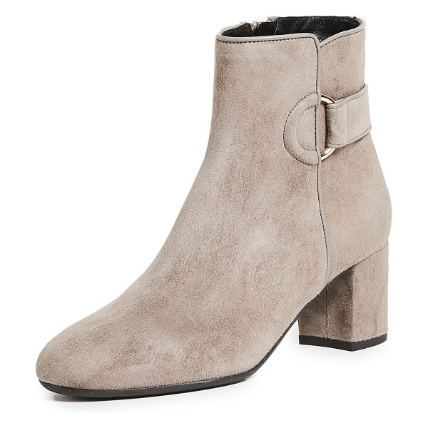 L.K. Bennett abi booties in silver birch - Luxe suede L.K. Bennett booties with a buckle strap...