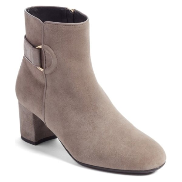 L.K. BENNETT ari bootie - The details are what make this buttery-soft suede bootie...