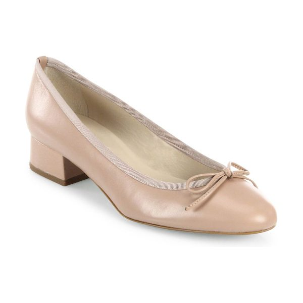 L.K. Bennett danielle leather ballet pumps in beige trench - Ladylike ballet-inspired pump in soft shiny leather....