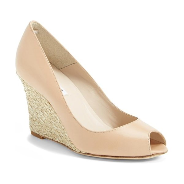 L.K. Bennett estela wedge peeptoe pump in taupe - The Estela pump keeps the elegant, sought-after...
