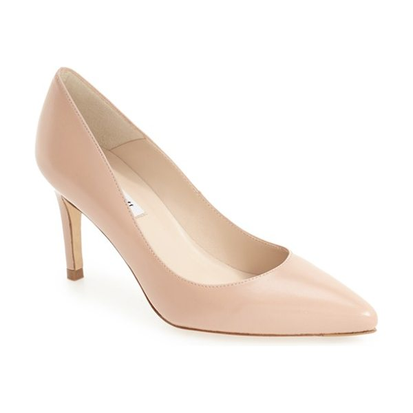 L.K. BENNETT florete pump in natural/ champagne - Metallic flecks lend delectable luster to a timeless...