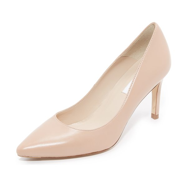 L.K. Bennett Florete pumps in trench tan - Versatile L.K. Bennett pumps in a pointed toe profile....