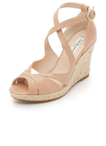 L.K. Bennett Maggie wedges in trench tan - A braided jute trimmed platform lends natural appeal to...