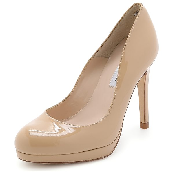 L.K. Bennett sledge patent pumps in taupe - Patent leather brings a ladylike look to these L.K....