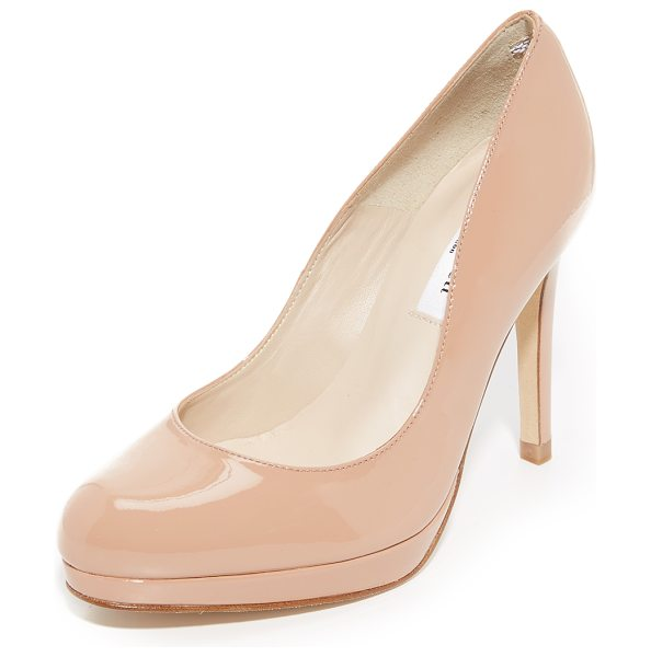 L.K. Bennett sledge patent pumps in fawn - Patent leather brings a ladylike look to these L.K....