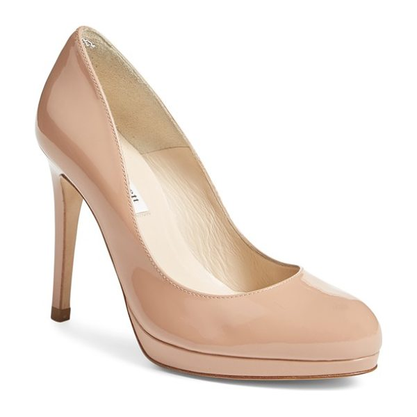 L.K. Bennett 'sledge' pump in fawn - A perfectly sized platform brings elegant height to a...