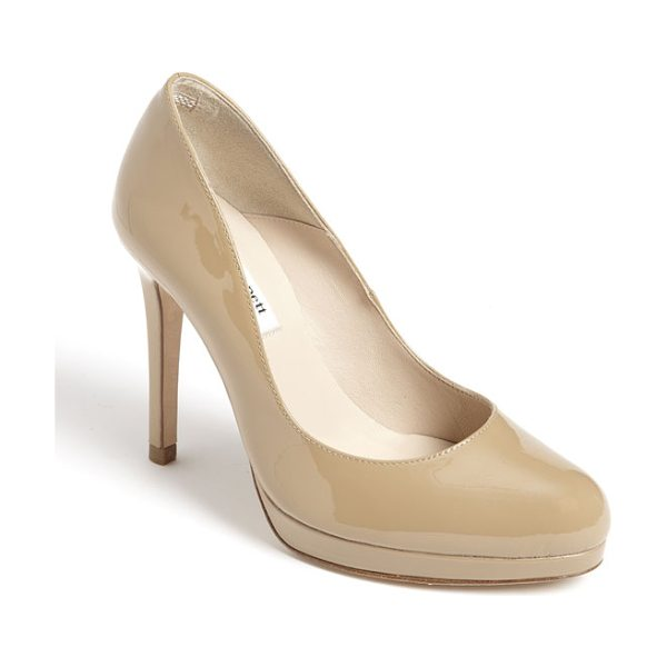 L.K. Bennett 'sledge' pump in taupe - A perfectly sized platform brings elegant height to a...