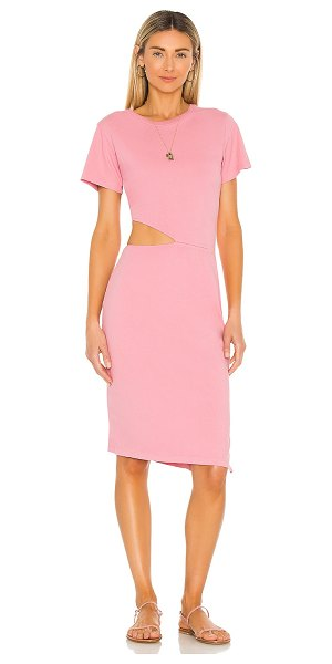 LnA lexi dress in coral pink