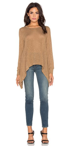 LNA Ribbon tie sweater - 48% rayon 48% poly 4% spandex. Hand wash cold....