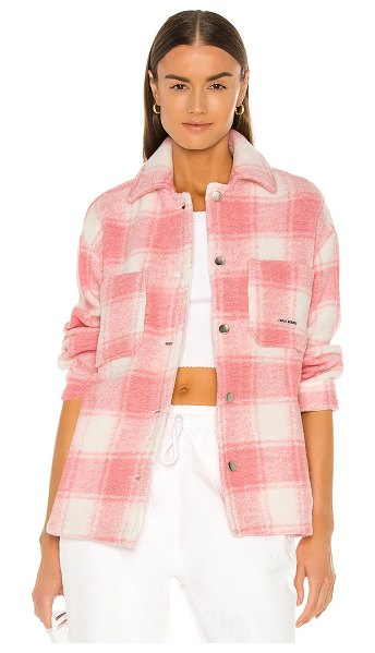 Local Heroes twiggy coral shirt jacket in pink