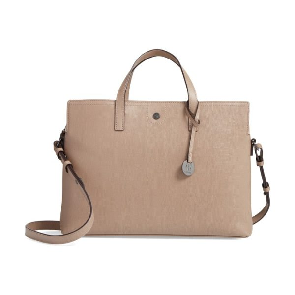 Lodis business chic judith rfid-protected leather laptop briefcase in taupe - Make your daily commute just a little easier and more...