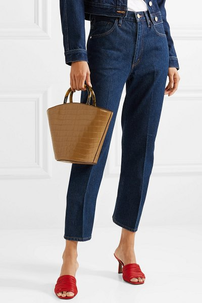 Loeffler Randall agnes fan croc-effect leather tote in camel - Loeffler Randall's accessories are produced in small...