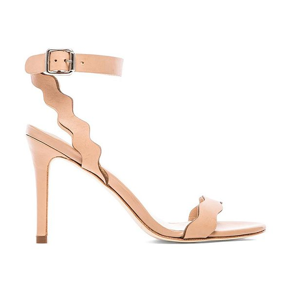 "Loeffler Randall Amelia heel in beige - Leather upper and sole. Heel measures approx 4"""" H...."