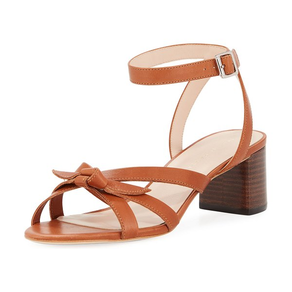 Loeffler Randall Anny Delicate Strappy Leather Sandals in cognac