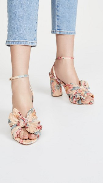 Loeffler Randall camellia knot mules in butter multi floral