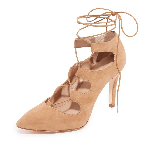 Loeffler Randall Delfine Lace Up Pumps in almond - Elegant Loeffler Randall pumps with a scalloped top line...